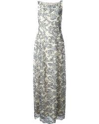 Tory Burch Leaf Motif Lace Dress - Lyst