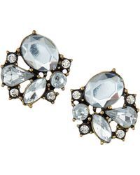 Lydell NYC - Rhinestone-Cluster Button Earrings - Lyst