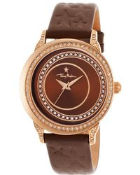 Thierry Mugler Women'S Brown Genuine Leather Brown Dial brown - Lyst