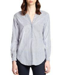 Joie Jira Printed Cotton Shirt - Lyst