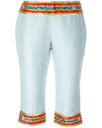 Dolce & Gabbana | Embellished Cropped Pants | Lyst