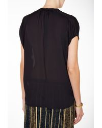 Vince Black Cap Sleeve Popover - Lyst