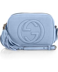 Gucci Soho Nubuck Leather Disco Bag blue - Lyst