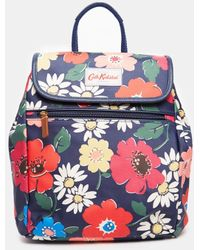 Cath Kidston - Mini Backpack In Navy Floral - Lyst