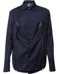 Hood By Air Tailored Shirt Jacket blue - Lyst