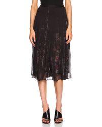 McQ by Alexander McQueen Long Shirred Silk Chiffon Skirt - Lyst