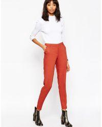 ASOS | Premium Slim Tailored Cigarette Trousers | Lyst