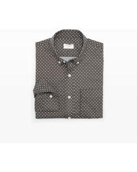 Club Monaco Slimfit Polka Dot Shirt - Lyst