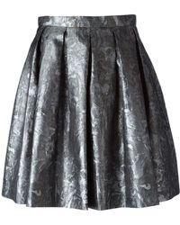 Charlott - Baroque Pleated Mini Skirt - Lyst