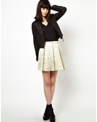 Boutique by Jaeger - Skirt In Pleated Jacquard - Lyst