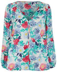 Joie Ollie Silk Print Blouse - Lyst