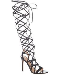 Gianvito Rossi - Stoney Lane Leather Gladiator Sandal - Lyst