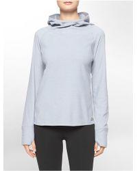 Calvin Klein White Label Performance Cowl Neck Hooded Fleece Pullover - Lyst