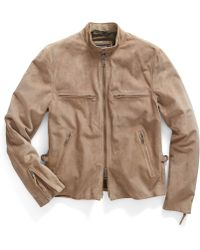 Todd Snyder Cafe Leather Jacket - Lyst