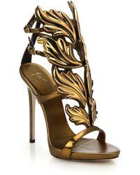 Giuseppe Zanotti Metallic Leather Wing Sandals - Lyst