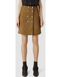 AllSaints Petra Skirt brown - Lyst