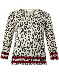 See By Chloé Leopard-Print Wool Sweater animal - Lyst