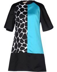 Michael Kors Short Sleeve Plain Weave Short Dress - Lyst