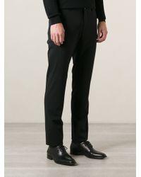 Giorgio Armani Black Tailored Trousers - Lyst