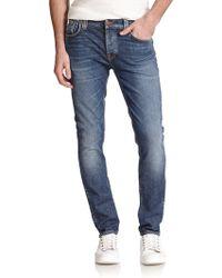 Nudie Jeans Grim Tim Straight-Slim Jeans - Lyst