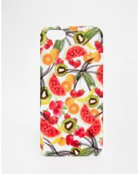 Asos Fruit Print Iphone 5 Case multicolor - Lyst