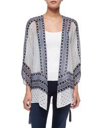 Calypso St. Barth - Artigas Mixed-Print Kimono Cardigan - Lyst