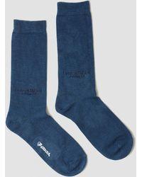 Blue Blue Japan   Indigo Hand Dyed Socks Blue   Lyst