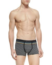 Paul Smith Gray Striped Trunks - Lyst