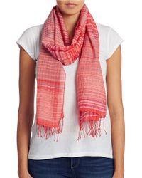 Eileen Fisher Checked Scarf - Lyst