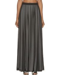 Costume National Black Layered Vented Maxi Skirt - Lyst