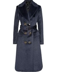 Burberry Prorsum - Brushed Alpaca And Wool-Blend Coat - Lyst