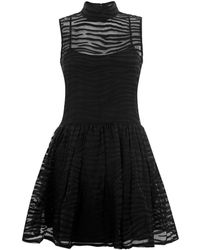 House Of Holland Zebra Collared Sun Dress - Lyst