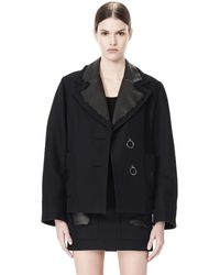 Alexander Wang | Peacoat With Distressed Detail | Lyst