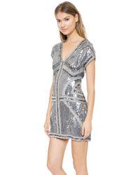 Parker Serena Dress  Gunmetal - Lyst