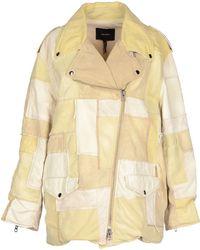 Isabel Marant Denim Outerwear beige - Lyst