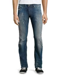 Diesel Belther L.32 Distressed Trousers - Lyst