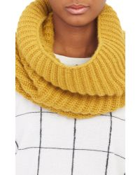 Barneys New York Yellow Net-Knit Cowl - Lyst