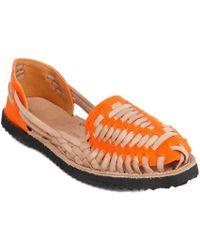 Ix Style | Children's Orange Woven Leather Huarache Sandals | Lyst