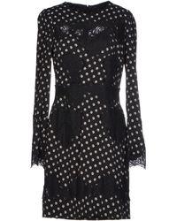 Dolce & Gabbana Black Short Dress - Lyst