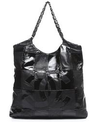Chanel Pre-Owned Black Leather Brooklyn Cabas Tote Bag - Lyst