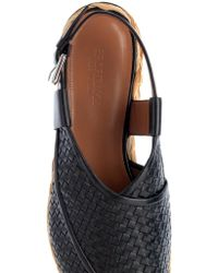 Sportmax - Veloce Woven-Leather Flatforms - Lyst