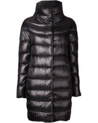 Herno Black Padded Coat - Lyst