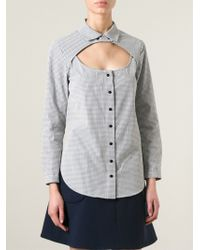 Carven 'Vicky' Cut Out Detail Shirt - Lyst