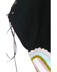 Cynthia Rowley   Embroidered Cotton Poncho   Lyst