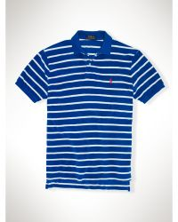 Polo Ralph Lauren Custom-fit Striped Terry Polo - Lyst