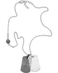 Diesel Gray Necklace - Lyst