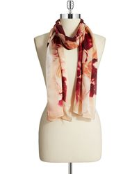 Vince Camuto Floral Silk Scarf - Lyst