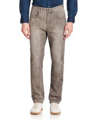 Madison Supply Slim-Straight Five-Pocket Jeans gray - Lyst
