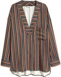 H&M Striped Blouse - Lyst