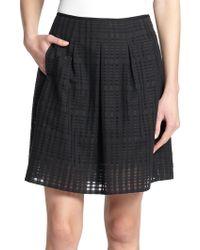 Vince Pleated Skirt black - Lyst